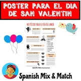Saint Valentine's Day Poster/Worksheet for Spanish class