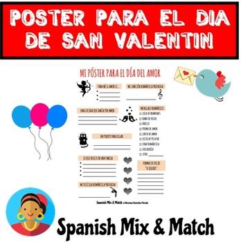 Saint Valentine's Day Poster/Worksheet for Spanish class