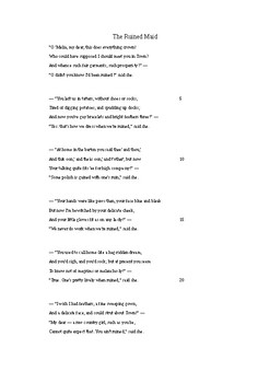Poster poem - 'The Ruined Maid' by Thomas Hardy
