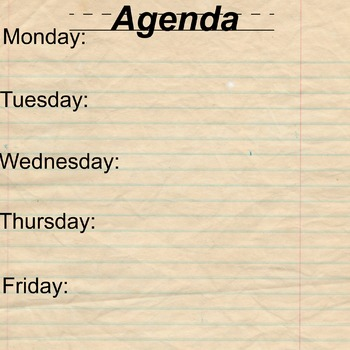 Poster-sized Printable Agenda Page