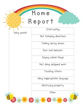 Poster to Note Behaviors for Home Reports