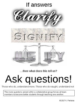 Poster to encourage student inquiry