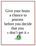 Poster to promote patience in learning