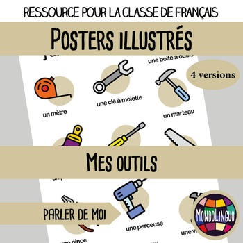 Posters to teach French/FFL/FSL: Mes outils/tools
