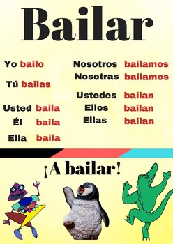 Poster verbo bailar