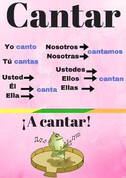 Poster verbo cantar