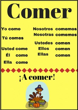 Poster verbo comer