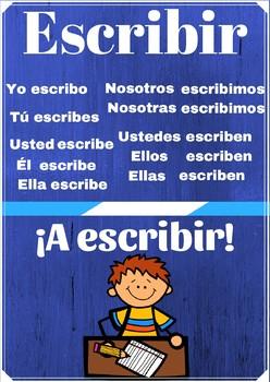 Poster verbo escribir