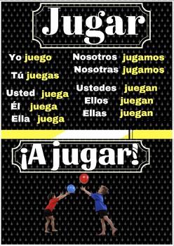 Poster verbo jugar
