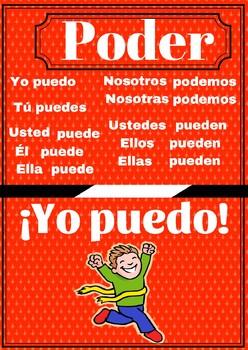 Poster verbo poder