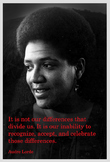 Poster with Audre Lorde quotation