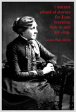 Poster with Louisa May Alcott quotation