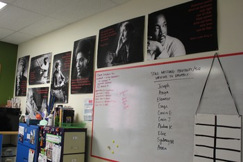 Poster with Martin Luther King Jr quotation