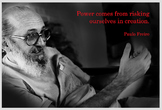 Poster with Paolo Freire quotation