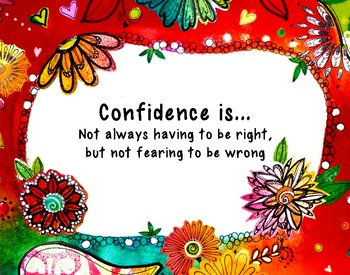 "Poster:11x14 ""Confidence is..."" Poster"