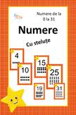Postere cu numere 0 - 31 pentru clasa stelutelor