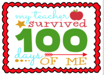 "Posters ""100 Day's of School"""