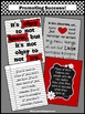 Inspirational Posters, Red and Gray Back to School Classroom Decor BUNDLE