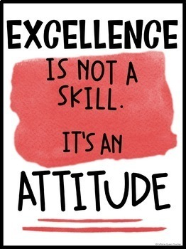 Attitude & Motivational Posters - Career and Vocational Classes