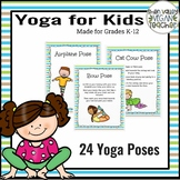 24 Yoga Poses Posters