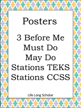 Posters: 3 Before Me, Must Do, May Do, Stations