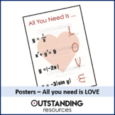 Posters - All you need is LOVE (Valentines Day) - classroom display
