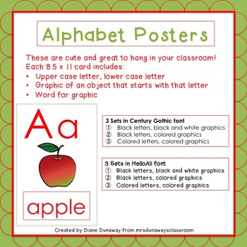 Posters:  Alphabet with Graphics