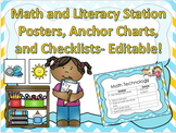 Classroom Setup- Organize Math and Literacy Station Rotations