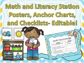 Classroom Setup- Organize Math and Literacy Station Rotations
