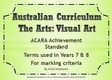 Posters - Art Theory Criteria (Australian Curriculum)