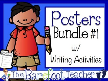 Posters w/ Writing Activities Bundle #1 (12 Sets Included)