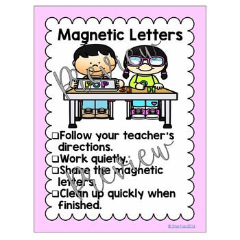 Cards for Centers, Posters and Expectations for Primary Grades