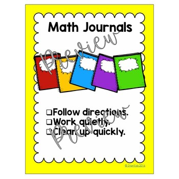 Centers Cards, Posters and Expectations for Primary Grades