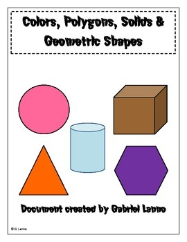 Posters: Colors, Polygons, Solids and Geometric Shapes V1