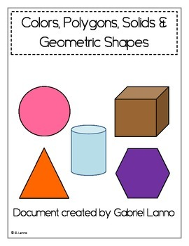 Posters: Colors, Polygons, Solids and Geometric Shapes (Version 2)