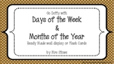 Posters - Days of the Week & Months of the Year