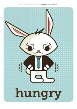 Posters: Emotions Feelings Bunny Business 68
