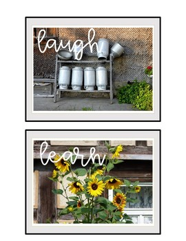 Posters Farmhouse Theme ~ Back to school Posters for Classroom or Office