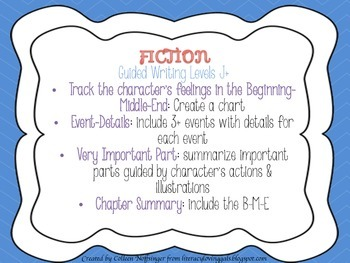 Posters: Fiction and Nonfiction Guided Writing Ideas for Levels A-I and J+