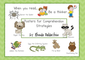 Posters For Reading Comprehension Strategies