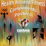 Posters - Health Related Fitness Components!