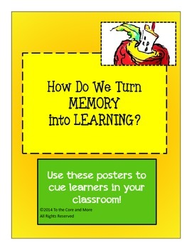 FREEBIE! Posters to Cue Students in the Classroom