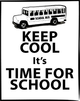 A Freebie Keep Cool Back to School Poster {Messare Clips and Design}