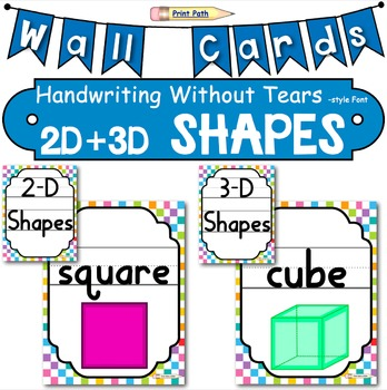 Posters: Letters, Colors, Numbers, Shapes BUNDLE Handwriting Without Tears style