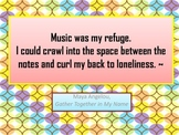 Posters Love of Music Famous Quotes in Color