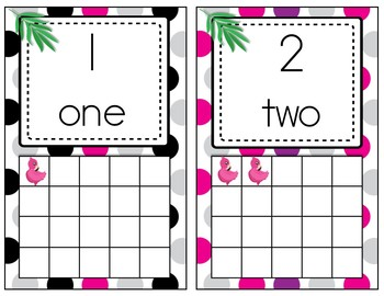 Numbers Posters with Frames