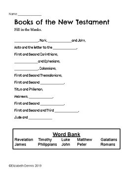 Posters Printables And Coloring Pages New Testament Books Of The Bible Song