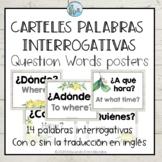 Posters Question Words Spanish Carteles Interrogativas Lem