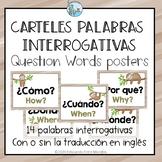 Posters Question Words Spanish Carteles Interrogativas Slo