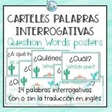Posters Question Words Spanish Carteles interrogativas CAC